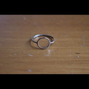 Jewelry - Silver ring with two small diamants